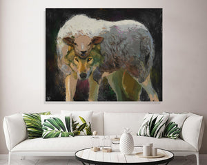 Wolf Sheeps Clothing Canvas Print Wolf Wall Art
