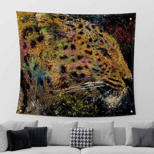Leopard Tapestry Leopard Print Psychedelic Tapestry