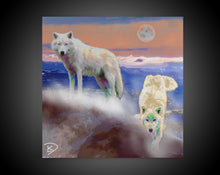 Load image into Gallery viewer, Wolf Decor Wolf Painting Wolf Art Print Canvas Wall Art