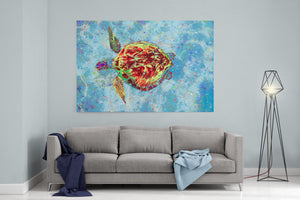 Sea Turtle Canvas Print Turtle Painting