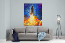 Load image into Gallery viewer, Space Shuttle Canvas Print