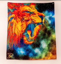 Load image into Gallery viewer, Lion Space Tapestry Psychedelic Tapestry