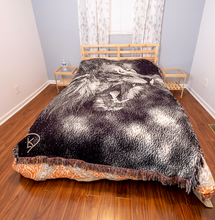 Load image into Gallery viewer, Lion Blanket Woven Abstract Lion Decor Lion Bedroom Decor