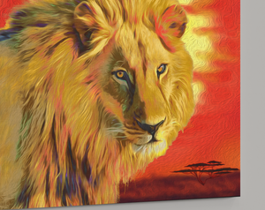 Lion Wall Art Lion King Canvas Wall Art