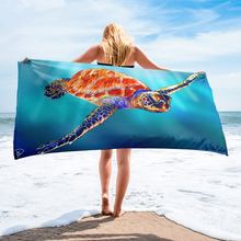 Load image into Gallery viewer, Sea Turtle Print Beach Towel