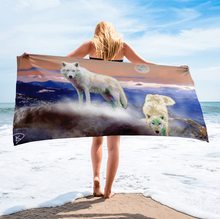 Load image into Gallery viewer, Wolf Decor Beach Towel