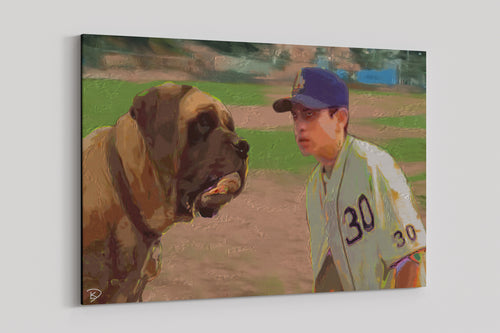 Sandlot Canvas Print Baseball Wall Art