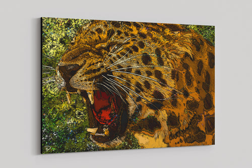 Jaguar Canvas Print Jungle Wall Art