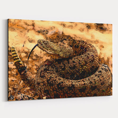 Rattle Snake Canvas Print Rattlesnake Wildlife Art