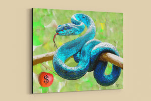 "Serpent Canvas Print ""Temptation"""