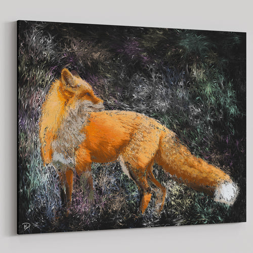 Red Fox Canvas Print Fox Wall Art