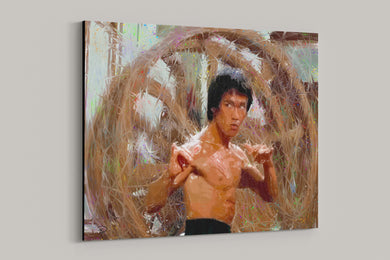 Bruce Lee Canvas Print - ALL Proceeds Donated to Bruce Lee Foundation