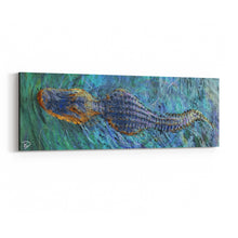 Load image into Gallery viewer, Crocodile Canvas Print Crocodile Wall Art