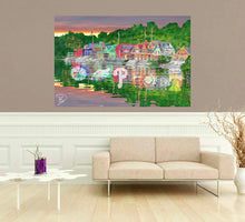 Load image into Gallery viewer, Boathouse Row Poster Philadelphia Sports Wall Art