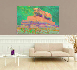 Nittany Lion Statue Roots Canvas Penn State Decor
