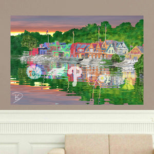 Boathouse Row Poster Philadelphia Sports Wall Art