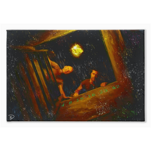 "Lost TV Show Canvas Print ""Man of Science, Man of Faith"""