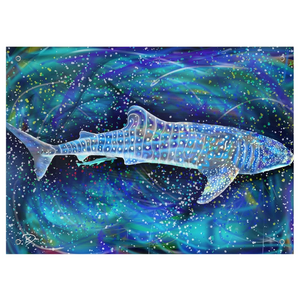 Whale Shark Tapestry Psychedelic Tapestry