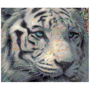 White Tiger Tapestry Tiger Wall Art Psychedelic Tapestry