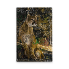 "Load image into Gallery viewer, Mountain Lion Canvas Print ""Patience"""