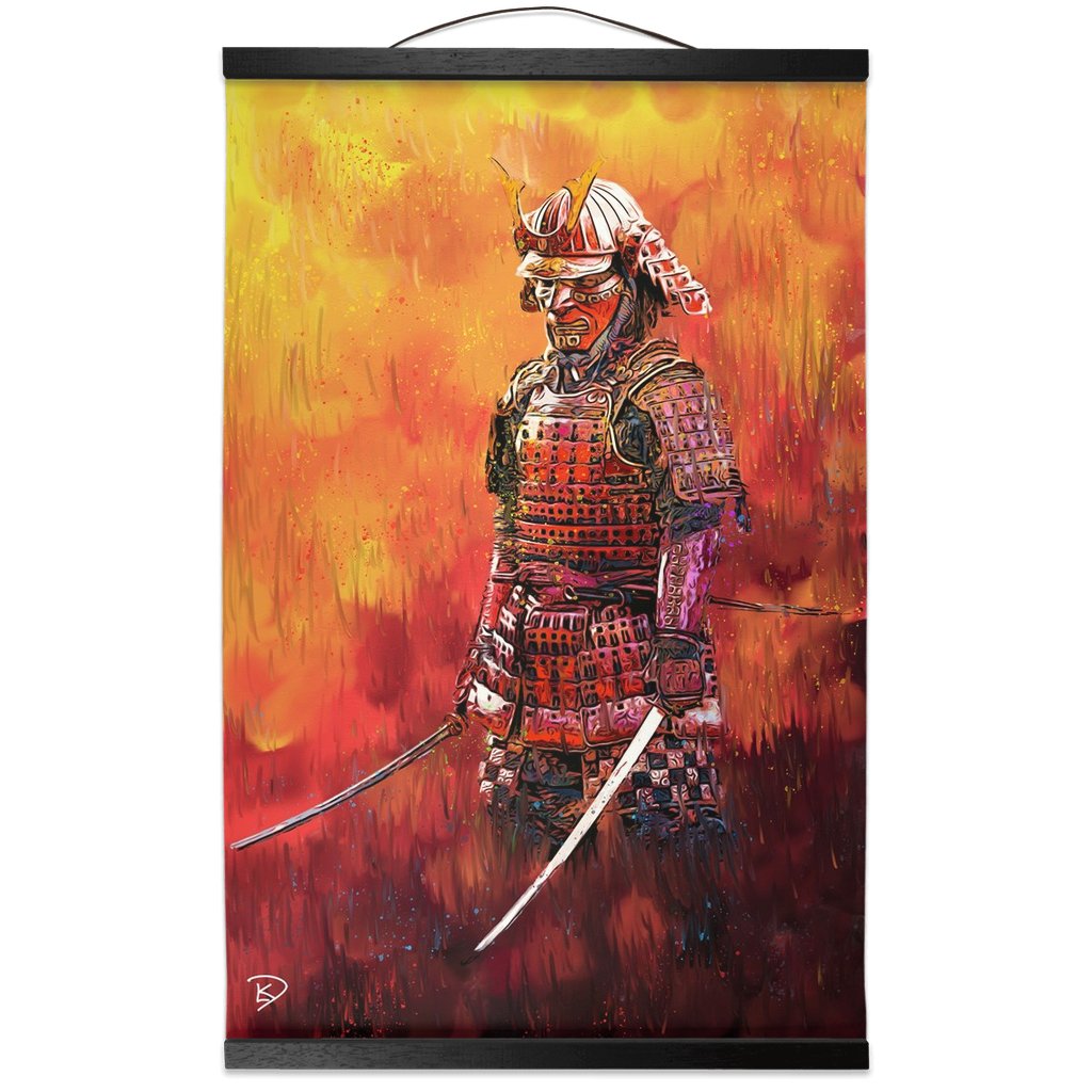 Samurai Hanging Canvas Print