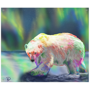 Polar Bear Art Psychedelic Tapestry
