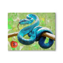 "Load image into Gallery viewer, Serpent Canvas Print ""Temptation"""