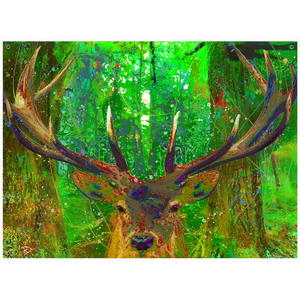 Red Stag Deer Tapestry