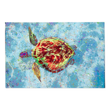 Load image into Gallery viewer, Sea Turtle Canvas Print Turtle Painting