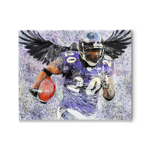 Ed Reed Canvas Print Man Cave Decor