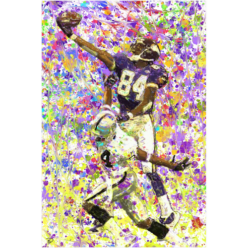 Randy Moss Poster Man Cave Art