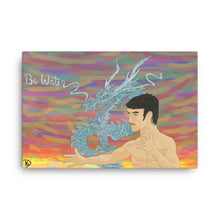 Load image into Gallery viewer, Bruce Lee Art Water Dragon Painting Print Dragon Wall Art