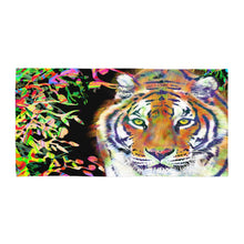 Load image into Gallery viewer, Tiger Beach Towel Tiger Linen Tiger Beach Decor