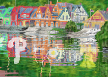 Load image into Gallery viewer, Beach Towel Boathouse Row Philadelphia Linen Towel Man Cave Bath Towel