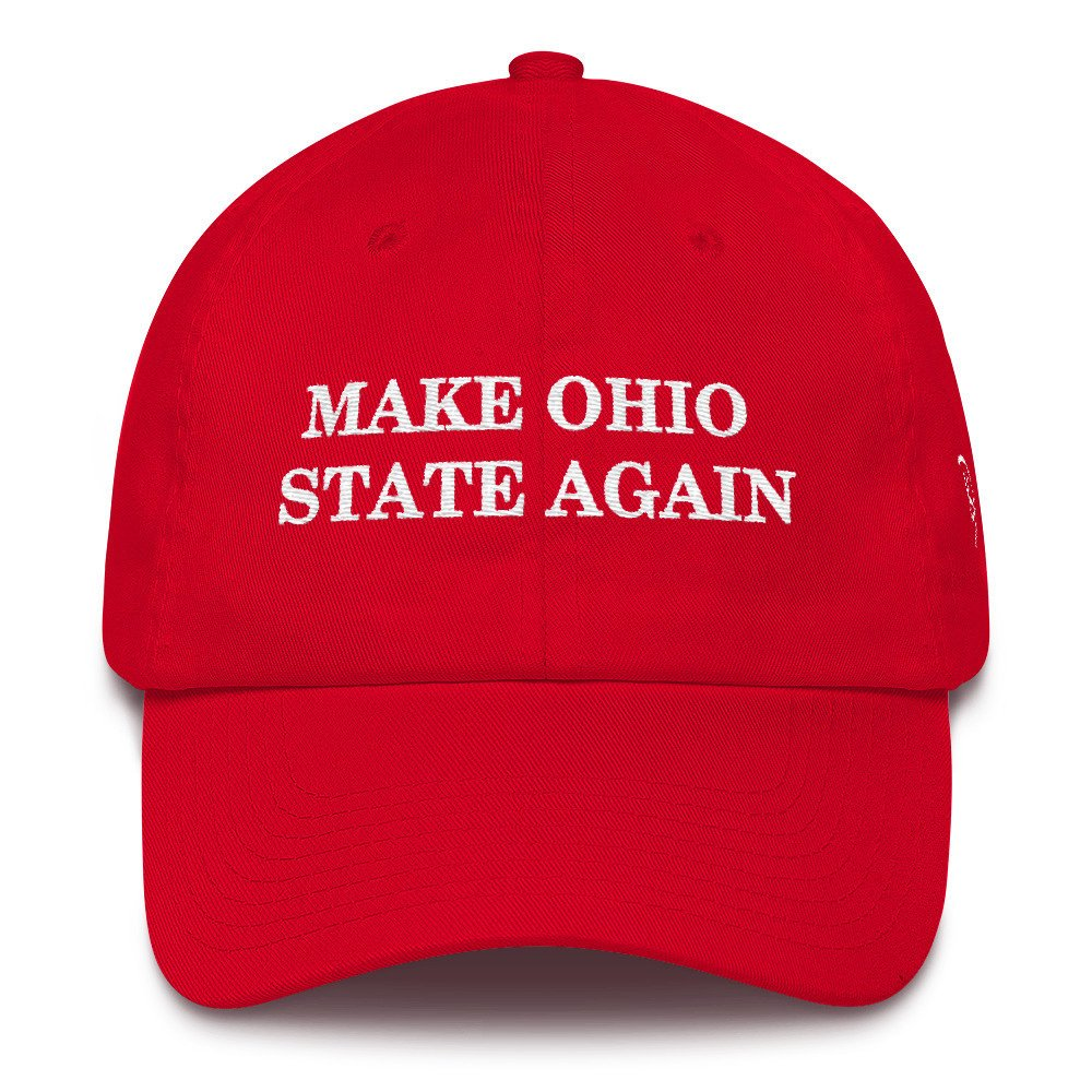 Make Ohio State Again Dad Hat Embroidered Hat Football Cotton Trump Baseball Cap