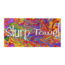 Load image into Gallery viewer, Fortnite Beach Towel Slurp Towel Tie Dye Linen Kids Bathroom Towel Tye Dye Beach