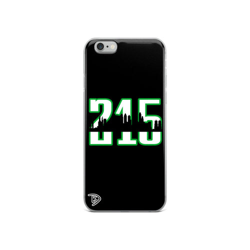 Apple Philadelphia 215 iPhone Case Skyline Eagles Football iPhone Case