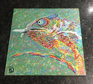Chameleon Print Reptile Decor Lizard Art Canvas Animal Art Print