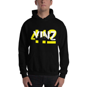 Pittsburgh Hoodie Yinz Hooded Sweatshirt Skyline 412 Steelers Penguins Unisex Mens