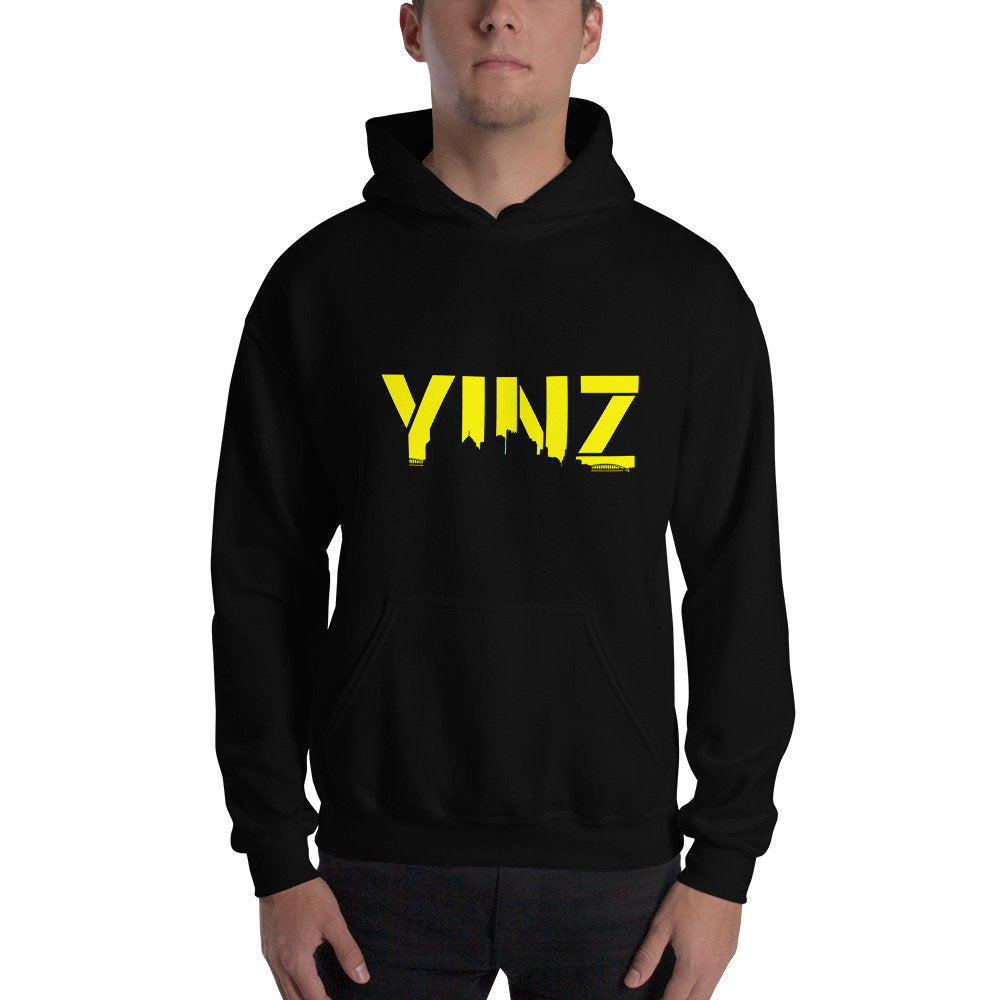 Pittsburgh Hoodie Yinz Hooded Sweatshirt Skyline Steelers Penguins Unisex Mens