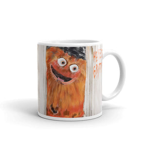 Gritty Mug Coffee Cup Flyers Mascot Hockey Gift