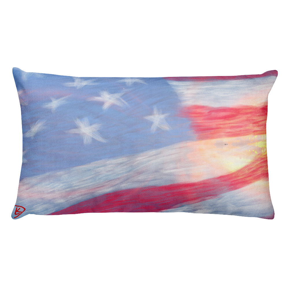 American Flag Throw Pillow Cushion Home Decor Couch Pillow Outdoor Pillow