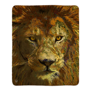 Lion Throw Blanket Safari Animal Blanket