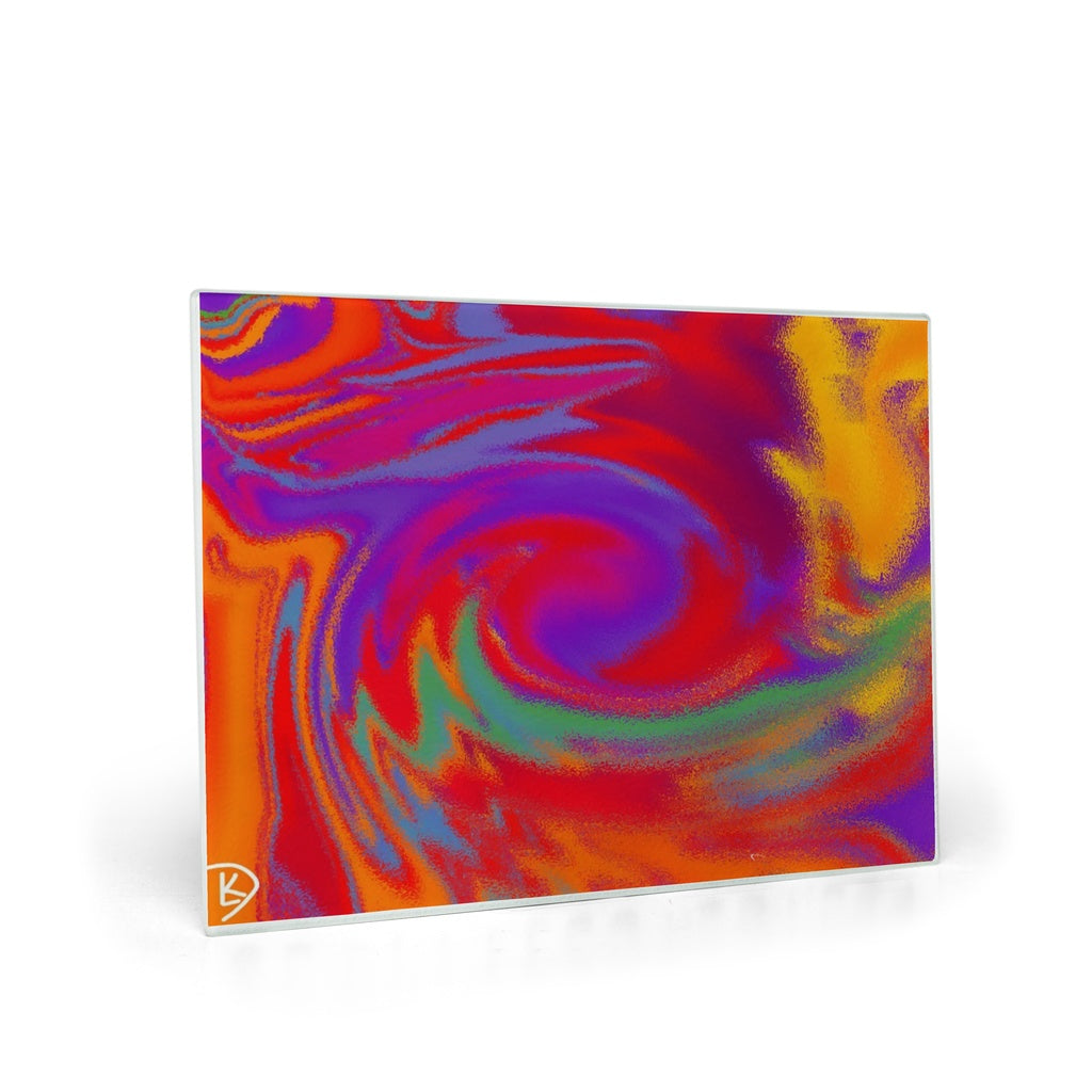 Glass Cutting Board Kitchen Appliances Chopping Board Tie Dye Kitchen Decor Kitchen Art