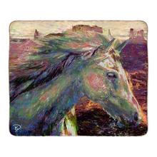 "Load image into Gallery viewer, Horse Throw Blanket ""Run Free"""