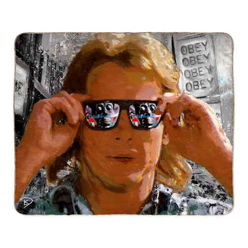 They Live Sherpa Blanket Obey Blanket