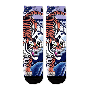 Tiger Art Crew Socks