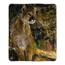 Load image into Gallery viewer, Mountain Lion Blanket Lion Fleece Sherpa Blankets
