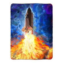 Load image into Gallery viewer, Space Shuttle Throw Blanket