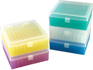 100-Well Microtube Storage Box, assorted 5/pk